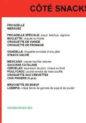 Menu Côté Frites - Les snacks