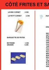 Menu Côté Frites - Les frites et sauces