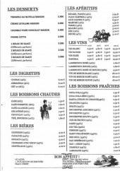 Menu Le Jadis - Les desserts, apéritifs, digestifs,..