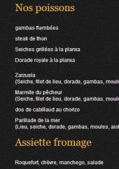 Menu La Casa Del Joker - Les poissons et assiette fromages