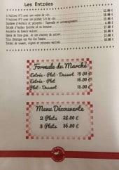 Menu Le P'ti Bouchon - Les entrées et les formules