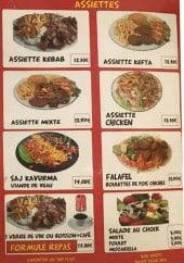 Menu Turkuaz Kebab - Les assiettes
