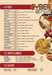 Menu Cyber pasta - Les pizzas, tartes et salades