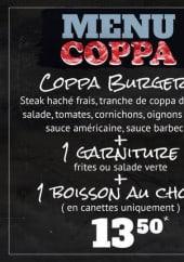 Menu Empire Steak Building - Les menus coppa et hotdog