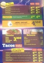 Menu Inélia - Les paninis, le menu enfant ...