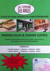 Menu La Cabane des Anges - Carte et menu La Cabane des Anges Strasbourg