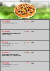 Menu La cantine - Les pizzas à base tomate