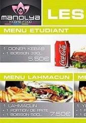 Menu Manolya - Les menus