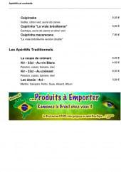 Menu Rios - Apéritifs et alcools suite