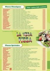 Menu La Vera Pizza - Les pizzas