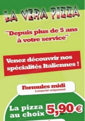 Menu La Vera Pizza - Carte et menu La Vera Erstein