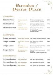 Menu La Suzette - Entrées et plats