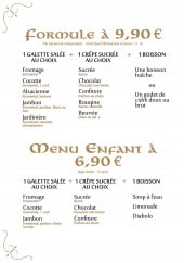 Menu La Suzette - Formules et menus