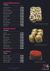 Menu O'4 Sushi - Les californias rolls, les springs rolls et gunkans