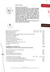 Menu Chez Ernest - Les convives et les boissons