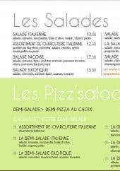 Menu Le Borsalino - Les Salades et Pizz'salades