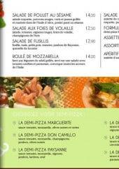 Menu Le Borsalino - Les Salades et Pizz'salades suite