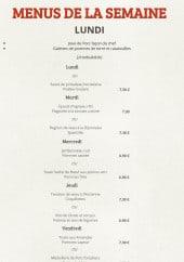 Menu Cook Home - Un extrait de menu de la semaine