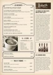 Menu Jadis et Gourmande - Les desserts, cafés, thés et tisanes