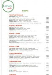 Menu Pizz à estelle - Les pizzas, menu classique et menu enfant
