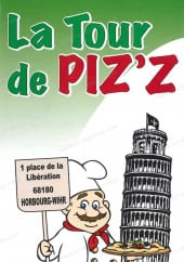 Menu La Tour de Piz'z - Carte et menu  La Tour de Piz'z Horbourg Wihr