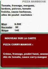 Menu Le Fourmet - Autre pizzas
