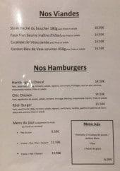 Menu L'Angélus - Viandes et hamburgers
