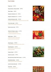 Menu L'Anémone du Florival - Les entrées