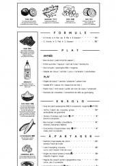 Menu Le Sapnà - Formules, plats, ensolo,...