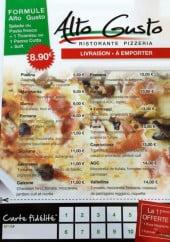 Menu Alto Gusto - Les pizzas