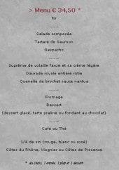 Menu Bistrot de la Passerelle - Les menus