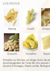 Menu Intermezzo - Les pâtes
