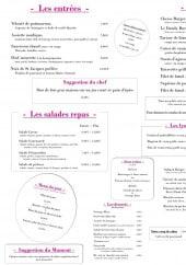 Menu Le dandy - Les entrées, viandes,...