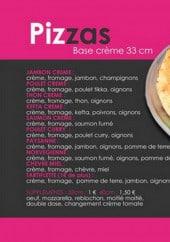 Menu 126 Food Avenue - pizzas à base de crème