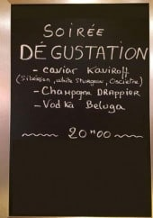 Menu La Réserve - Un exemple de menu