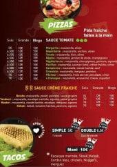 Menu Les Délices de la Villette - Les pizzas et tacos