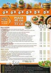 Menu Le 153 - Les pizzas et salades