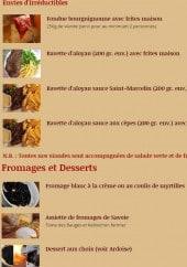 Menu Le Refuge - Envies d'Irréductibles et Fromages et Desserts