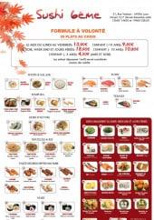 Menu Sushi 6eme - Les formules