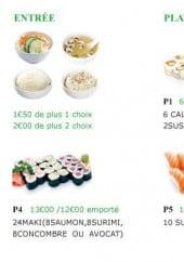 Menu Don Sushi - Les entrées et plateaux