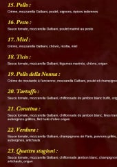Menu La lambretta - Les pizzas 2