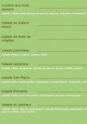 Menu Le San Marco - Les salades