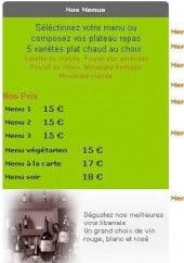 Menu Meza Libanais - Les menus
