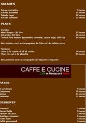 Menu Caffè e Cucine - La carte