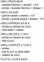 Menu Ixia - Extrait de menu