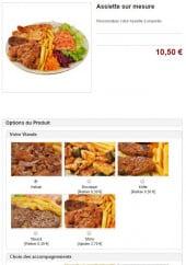 Menu Kebab D'or  La Mer Egee - Les assiettes sur mesure