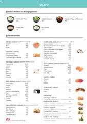 Menu D'Sushi - Entrées froides, accompagnements et incontournables