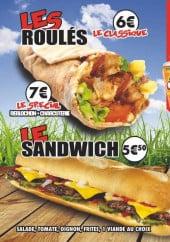 Menu Le Bônois - Les roulés, les sandwichs et les galettes