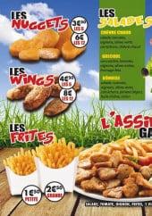 Menu Le Bônois - Les nuggets, les wings,.....