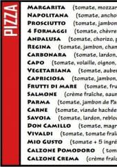 Menu Le Don Camillo - les pizzas